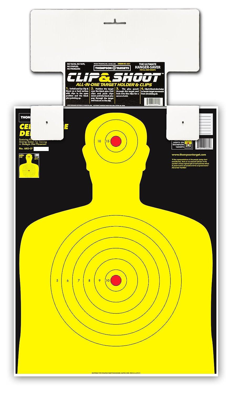 Clip & Shoot Indoor Gun Range Shooting Target Holder Hanger (3 pack)