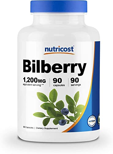 Nutricost Bilberry Capsules 1200mg 90 Veggie Capsule