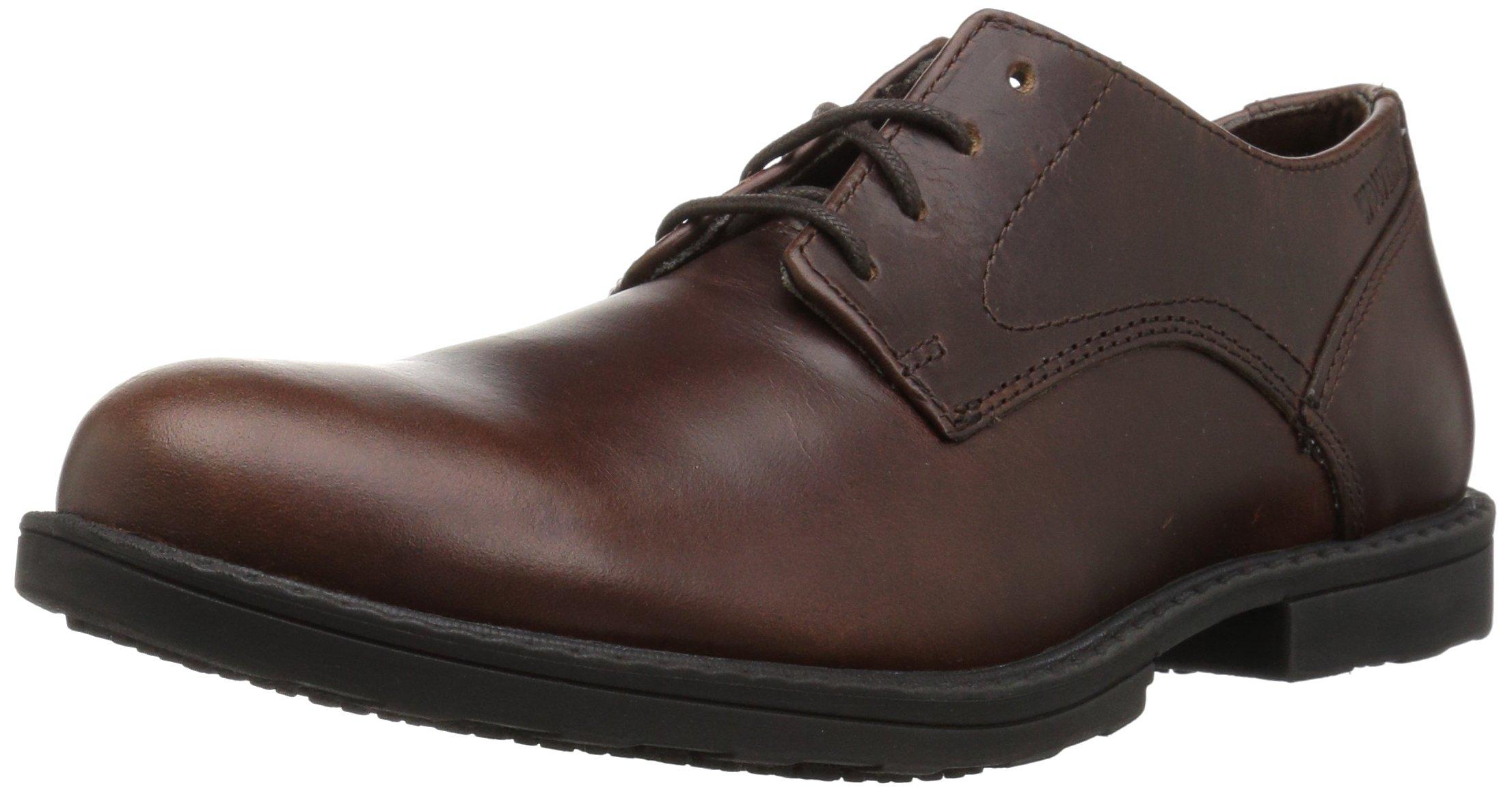 Wolverine Men's Bedford Soft-Toe Oxford SR Food Service Shoe, Brown, 8.5 M US