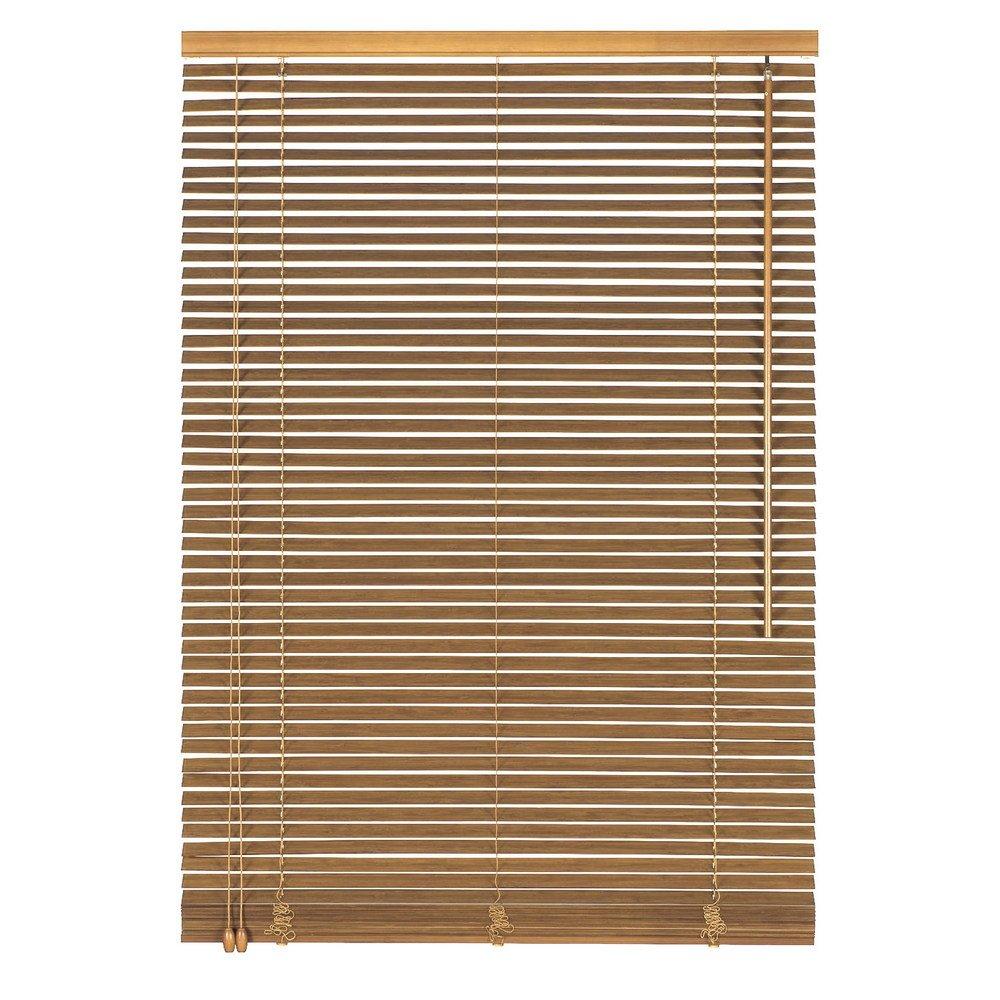 Easy-Shadow Holzjalousie Holz-Jalousie Bambus Jalousette Echtholz Rollo Jalousette 110 x 120 cm   110x120 cm in Farbe eiche - Bedienseite links    Maßanfertigung