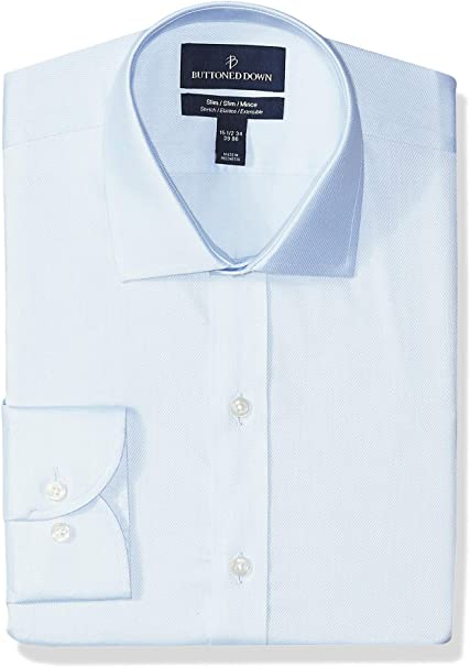 Marca Buttoned Down Tailored-fit Stretch Twill Non-Iron Dress Shirt Hombre