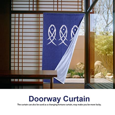 GOTOTOP Tenda per porta in stile giapponese, Porta Finestra ...
