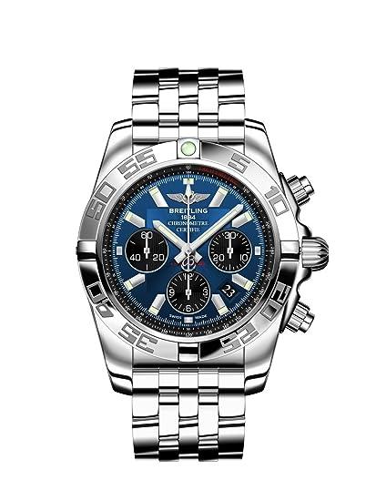 Breitling AB011012/C789/375A - Reloj de pulsera Hombre, Acero inoxidable, color Plata: Amazon.es: Relojes