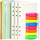 A6 Refill Paper, 3 Pack 45PCS A6 Loose Leaf Paper, 2 Pack 160PCS Neon Page Markers, 6PCS Binder Dividers, 2 PCS Binder…