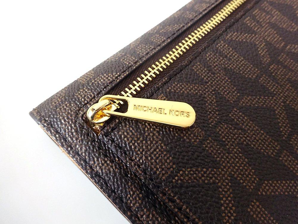 Michael Kors Jet Set Travel Large Trifold Leather Wallet Brown/Acorn by Michael Kors (Image #7)