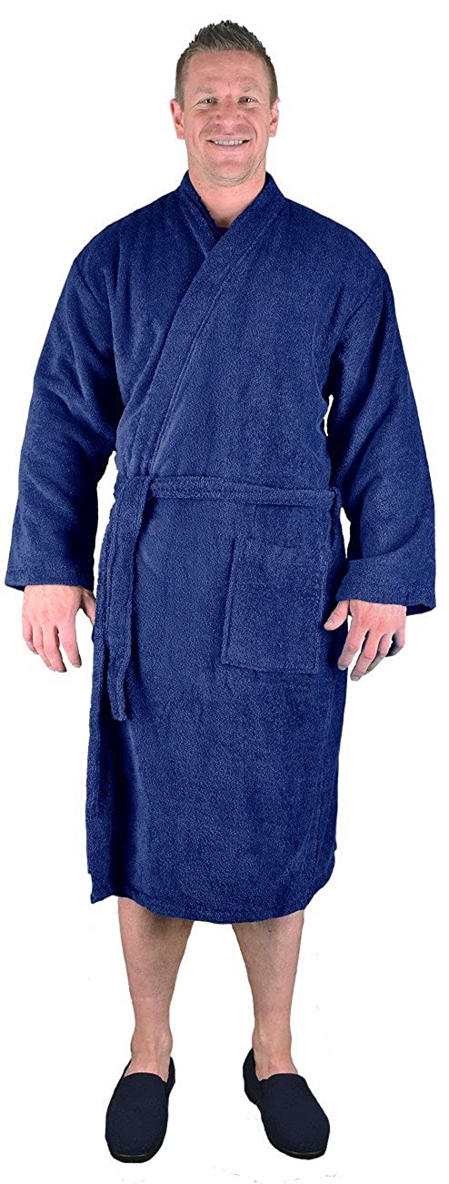 Espionage Big Mens Navy Breathe Towelling Dressing Gown 2XL to 8XL