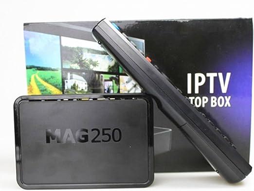 MAG 250 IPTV Multimedia Set Top Box Compatible Wifi W-LAN: Amazon ...
