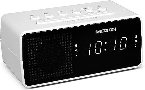Uhrenradio mit Nachtlicht-Großes LED-Display-PLL-UKW-Radio NEU weiß