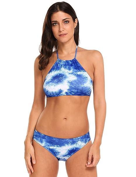 EKOUAER Mujer Elegante Bikini Dos Piezas Traje de Baño 2017 Nueva Moda