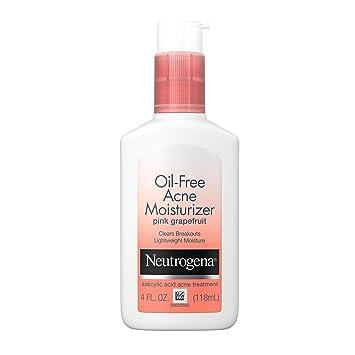 Amazon Com Neutrogena Oil Free Acne Facial Moisturizer With 5