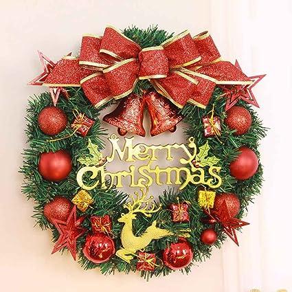 Convinced Christmas Door Wreath Lighted, Wall Décor,Christmas Balls Wreath  Door Wall Holiday Festival - Amazon.com: Convinced Christmas Door Wreath Lighted, Wall Décor