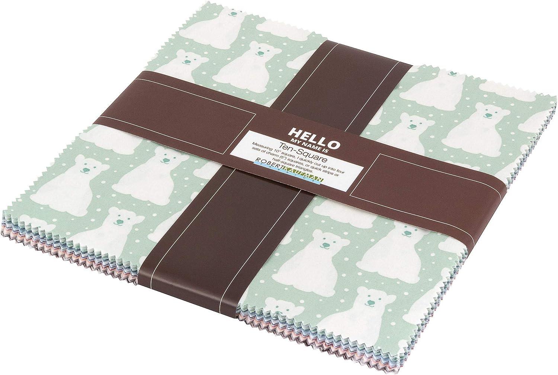 Elizabeth Hartman Arctic Ten Squares 10-inch Precut Cotton Fabric Quilting Assortment Layer Cake Robert Kaufman TEN-640-42