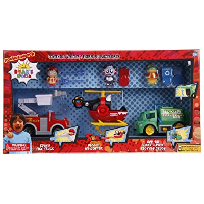 Ryan World Set 3 Pack Vehicles and Figures: Toys & Games