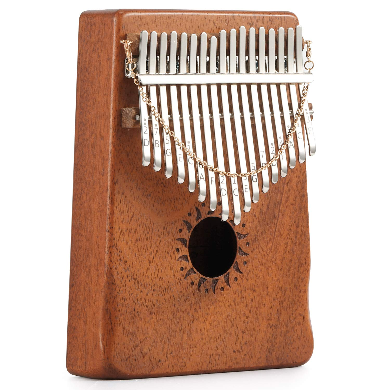 Donner 17 Key Kalimba Thumb Piano Solid Finger Piano Mahogany Body DKL-17 With Hard Case by Donner (Image #4)