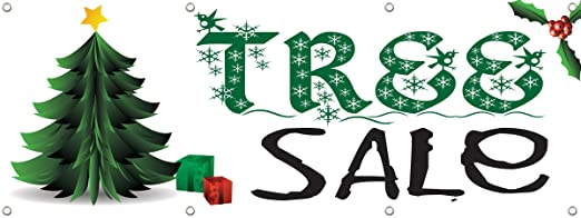 Amazon.com : Christmas Tree Sale Signs Banners 3' X 8' Outdoor ...
