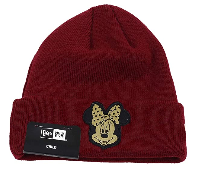 a3b0faf8216 Amazon.com  New Era Minnie Mouse Character Knit Maroon Gold Youth ...