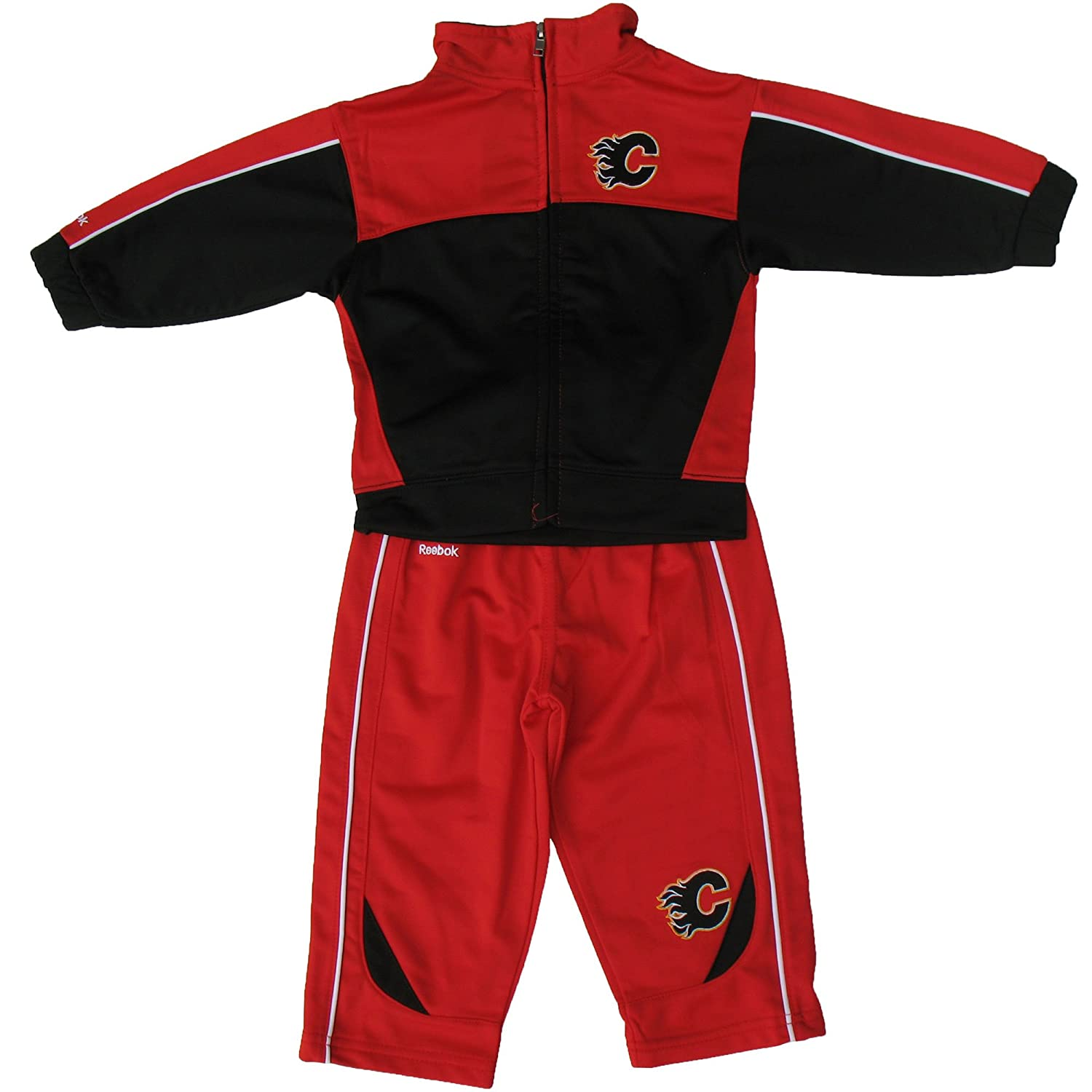 Calgary Flames Infant Zip-Up Jacket & Pant Set - Size 24 Months Reebok