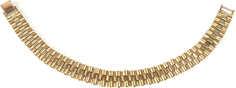 "14k Yellow Gold Rolex Link Mens Bracelet, 8.5"""