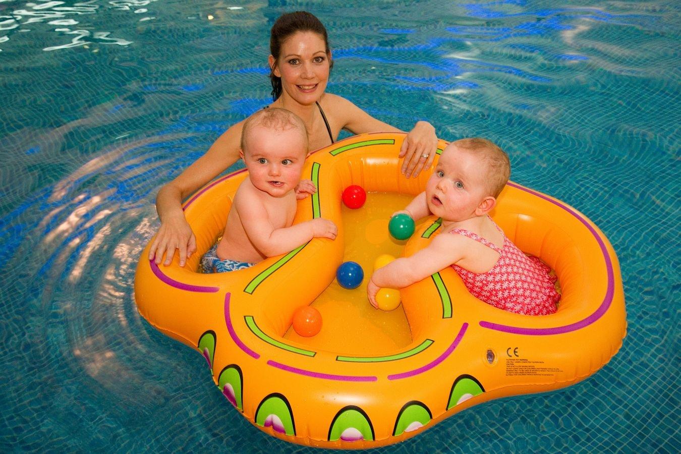 Product details of new inflatable floating swim ring kids children toy - Double Twin Child Swim Float Floatie Type Swim Seat Amazon Co Uk Baby