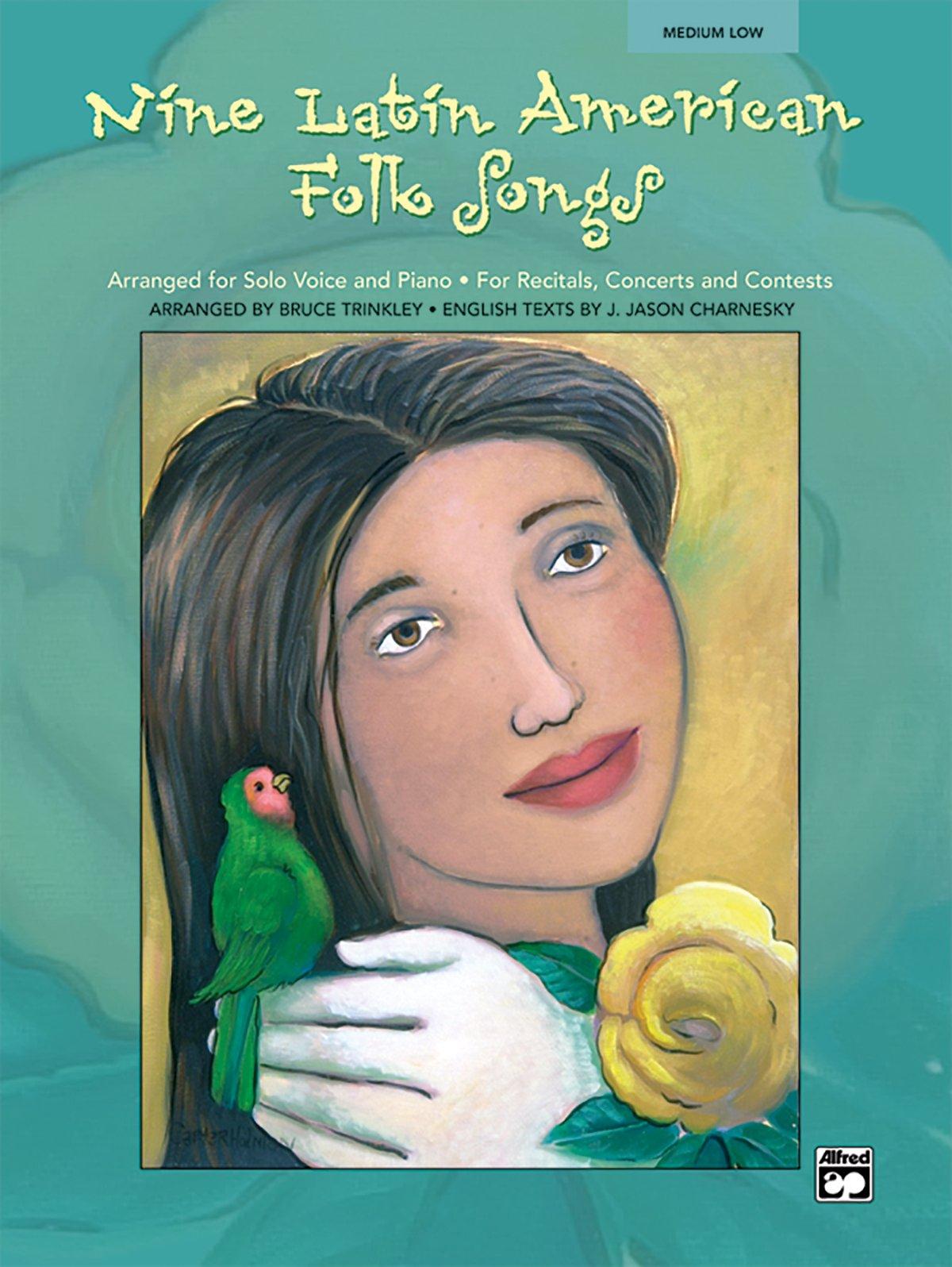 Nine Latin American Folk Songs: Medium Low Voice (Spanish, English Language Edition), Book & CD (Spanish Edition)