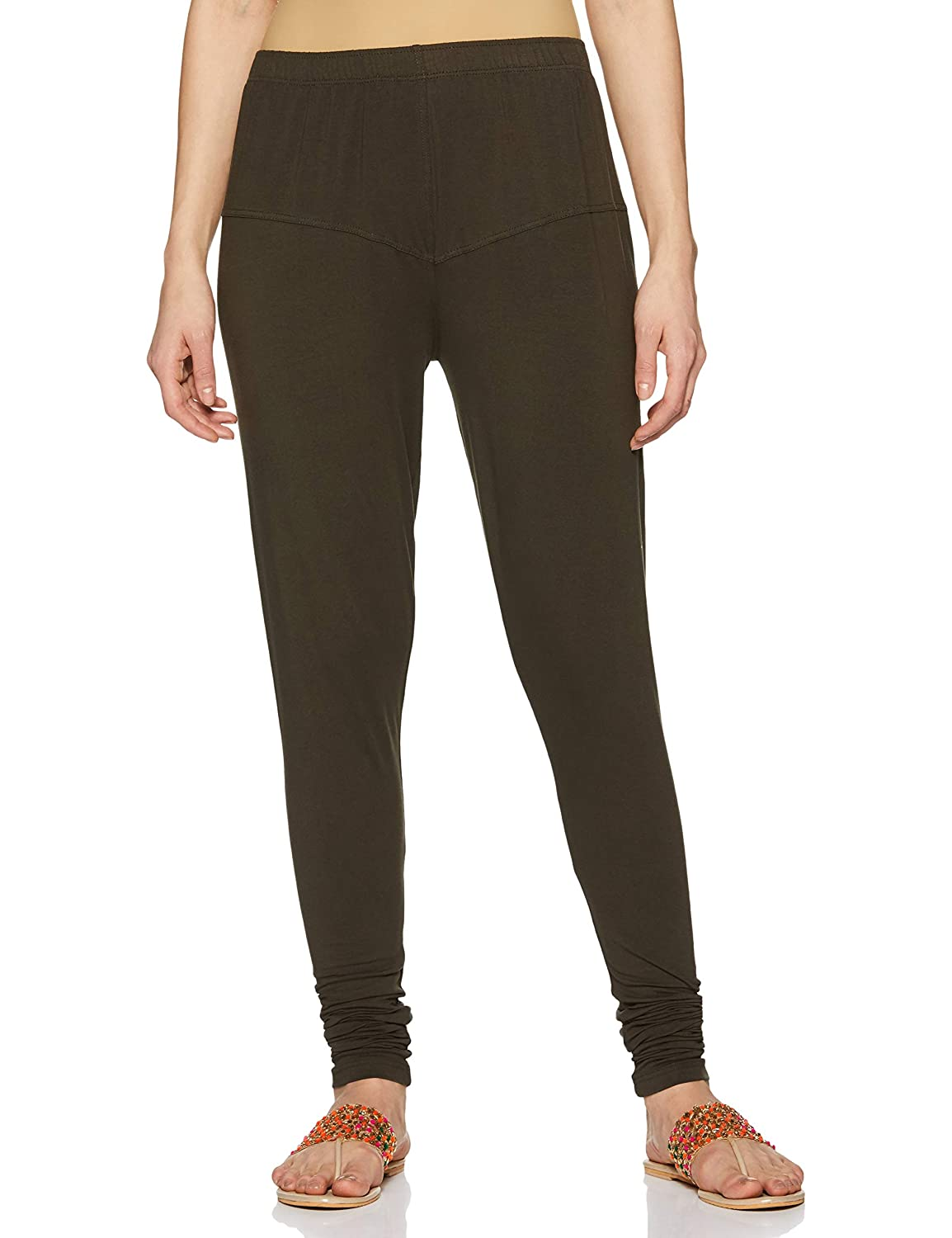 LUX LYRA Women's Leggings Silk_81_Olive_Free Size