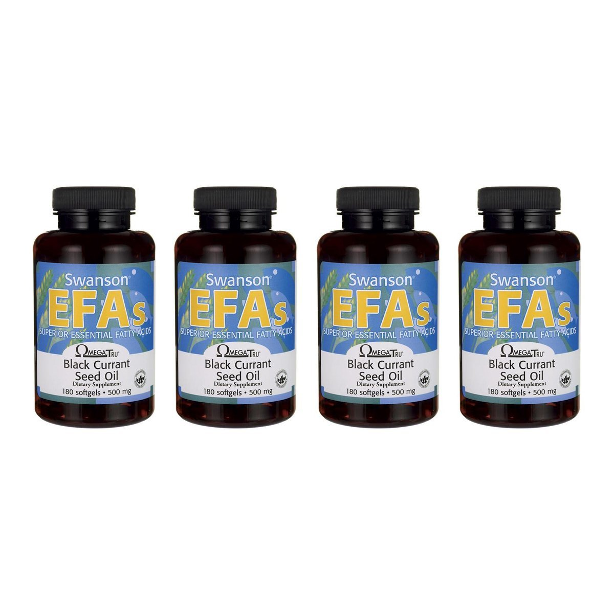 Swanson Black Currant Seed Oil Gla (Omegatru) 500 mg 180 Sgels 4 Pack by Swanson (Image #1)