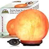 Himalayan Glow 1451 Natural Globe Salt Lamp, ELT Certified Pure Himalayan Pink Salt Night Light