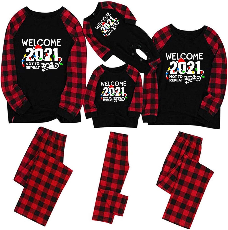 Gymboree Christmas Pajamas 2021 Amazon Com Sporttin Christmas Family Pajamas 2021 Happy New Year Goodbye 2020 Matching Sets Clothing
