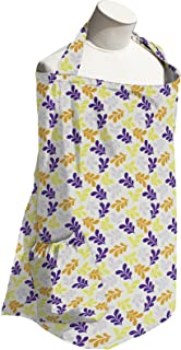 product image for Planet Wise Baby Nursing Cover for Breastfeeding, Purple Ferns