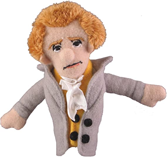 The Unemployed Philosophers Guild Thomas Jefferson Finger Puppet and Refrigerator Magnet