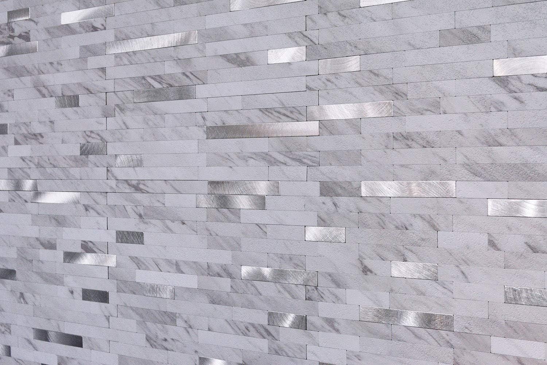 - Amazon.com: Peel And Stick Backsplash Stone Tile, Faux Volakas