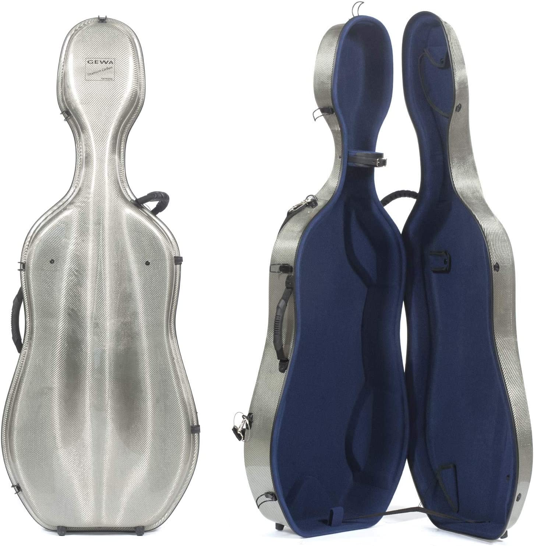 Gewa Estuche para Violonchelo, Idea Titanium Carbon 3.3 - Titanio/Azul: Amazon.es: Instrumentos musicales