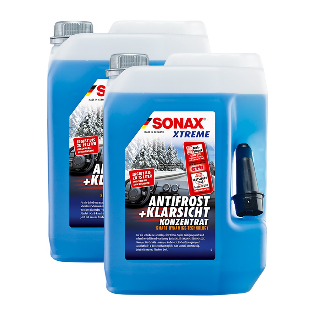 SONAX 2 x 02325050 Xtreme Anti Frost + concentré Transparente Disques Protection antigel 5 l