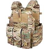 IDOGEAR EmersonGear Tactical Vest Molle Combat Airsoft Camouflage Paintball Vest CS Outdoor Modular Chest Set Adjustable Lightweight