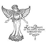 Spellbinders SBS-166 Joyful Season Angel Stamp Set, Cling Foam