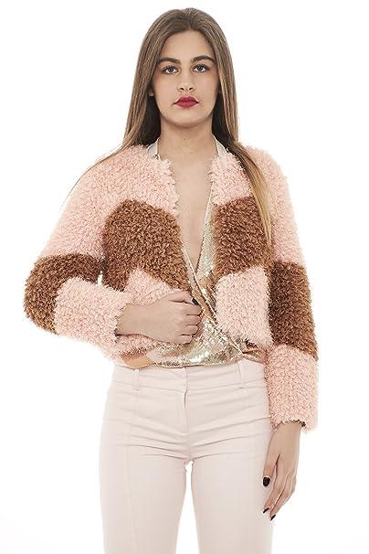 size 40 21bf3 78cf3 PATRIZIA PEPE giacca donna in pelliccia sintetica 8L0246 ...