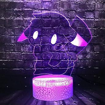KangYD Cute 3D Cartoon Pokemon Pikachu LED Night Light/Sleep Lamp ...