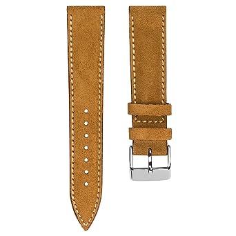 Marron Bracelet De Geckota Montre Suede Nubuck Vintage Caramel 3ARjLq54