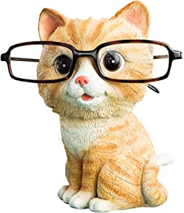 CHOOLD Cute Cat Shaped Resin Eyeglass Holder/Spectacle Holder/Eyeglass Display Stand/Sunglasses Holder Home Office Decoration New Year gift