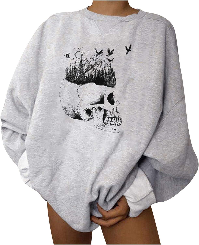 Sweatshirt Women Cute Funny Print Mom Blouse Tops Casual Long Sleeve Vacation Shirts Top Women Halloween Casual Pullover