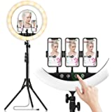 18-inch LED Ring Light with Tripod Stand Photography Kit: Yingnuost Touch & Remote Selfie Lights with Mirror & Dual…