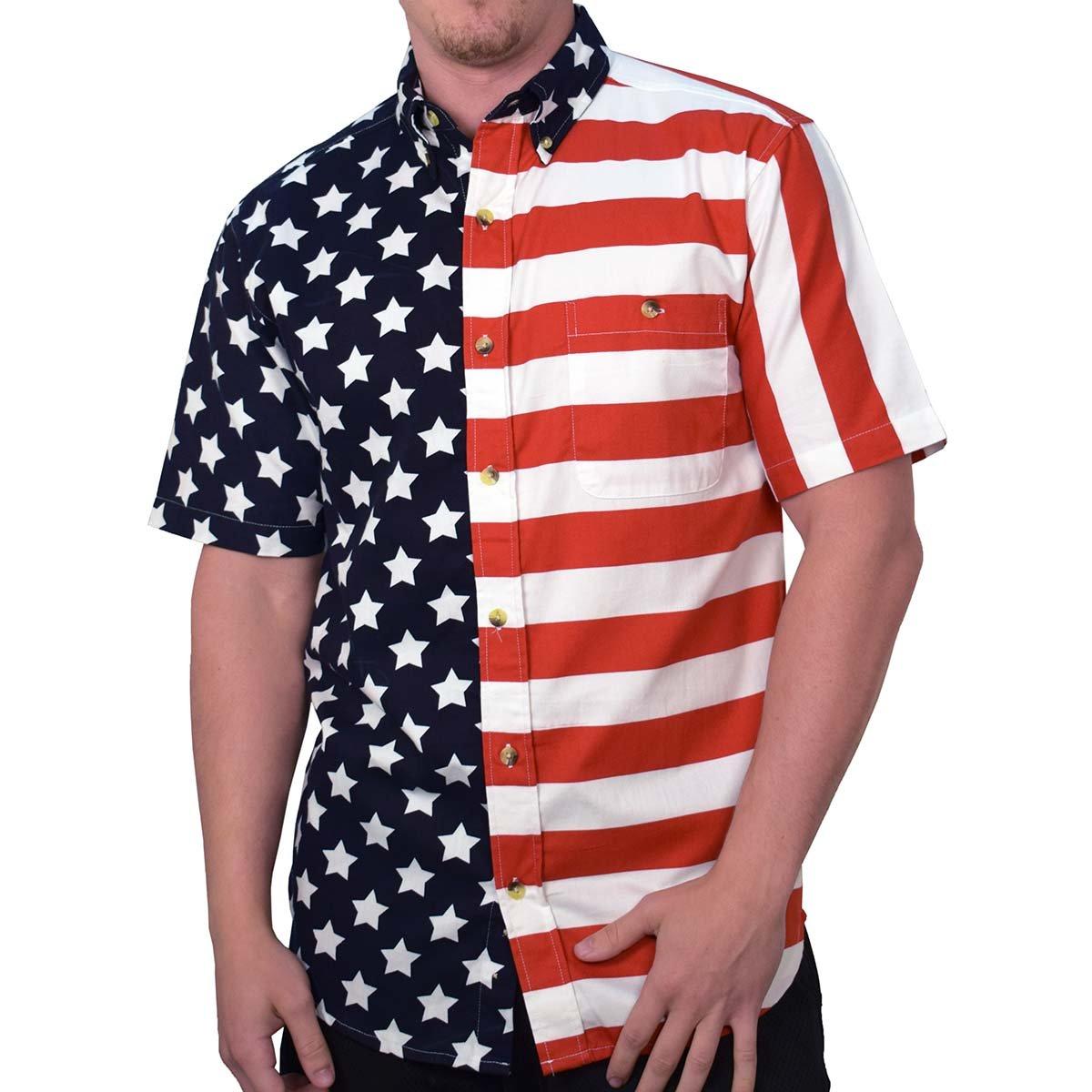 a751b1b5e8 Men's American Flag Shirt