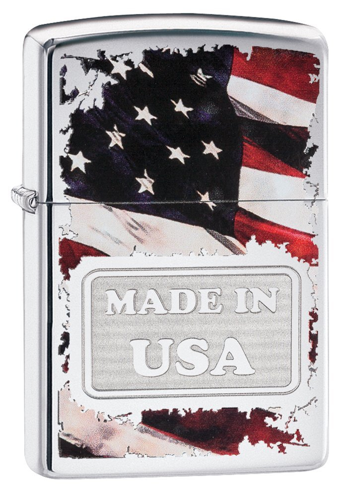 Zippo Made in USA High Polish Chrome Pocket Lighter by Zippo (Image #1)