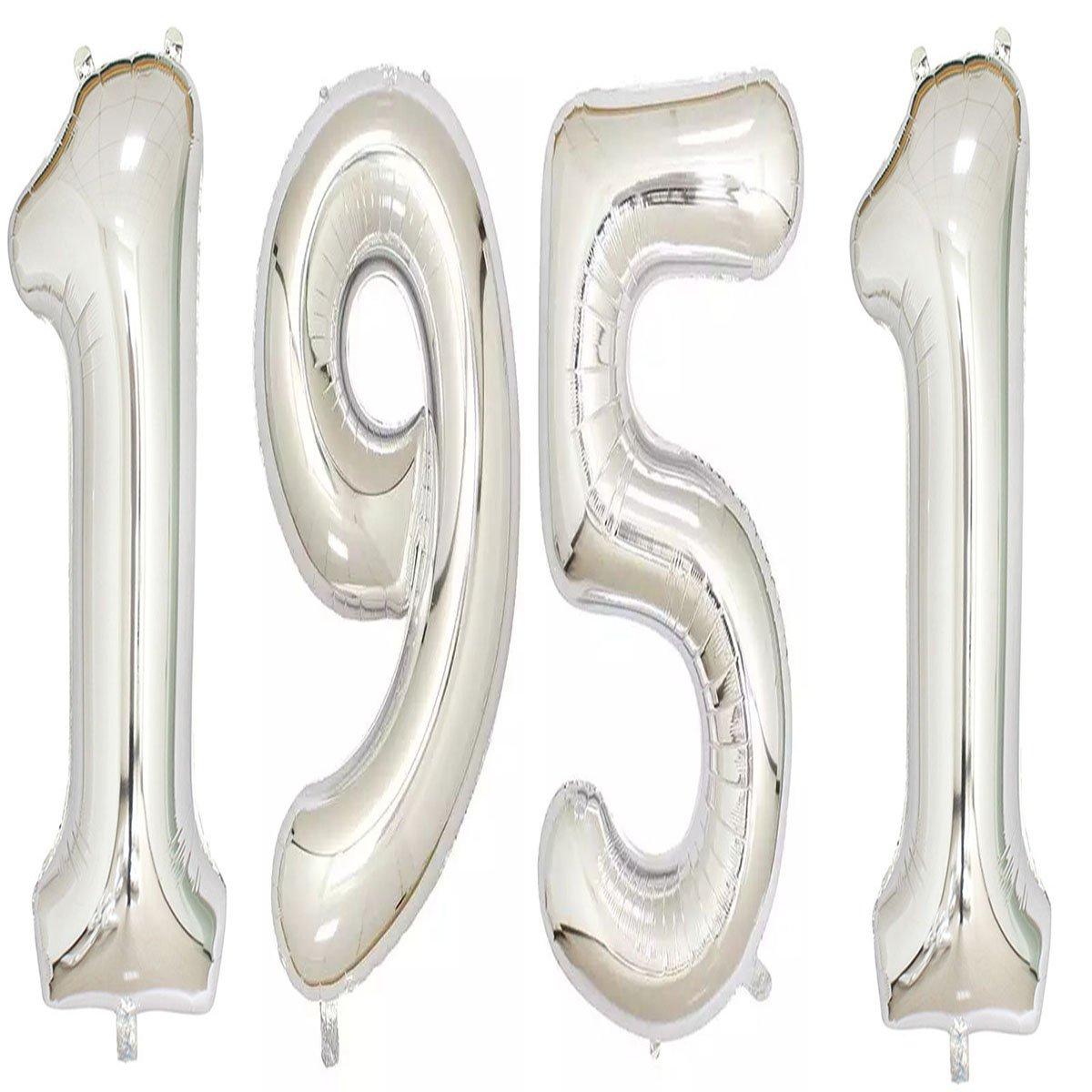 1951バルーン40インチシルバーGiant Jumboヘリウム箔マイラーのバルーンを67th誕生日パーティー装飾   B07CC9FF4Q