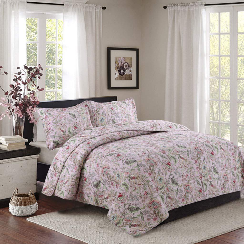 綿洗い寝具セット、ヨーロッパスタイルのキルトエアコンキルトベッドカバー3ピースセット(230 * 250センチ) B07MR5HZTC