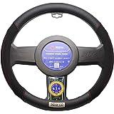 غطاء عجلة القيادة في جلد صناعي تقليدي. Black SPC1112BK ملحق لقنوات الكابلات