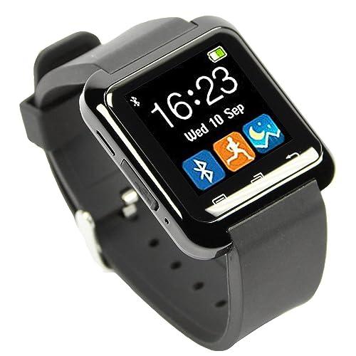 [Smartwatch Montre Connectées] EasySMX Android Smartwatch Bluetooth 4.0 Multi-Languages Smart Watch Bande Smart Bracelet avec Ecran Tactile Montre Intelligent Support Android Smartphones Including SAMSUNG, HTC, Sony(Noir)