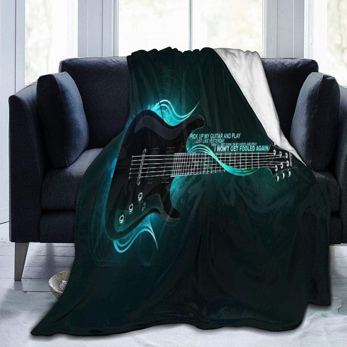 Manta Guitarra eléctrica Mullida y cálida Cama para niño/Cuna Manta Franela Guardería Siesta Niños Dormir Panza Tiempo Tirar Manta Niñas Niño