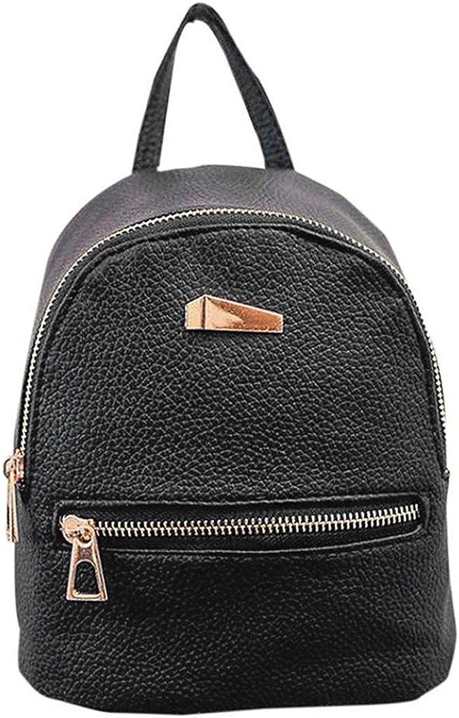 Lightclub Fashion Faux Leather Mini Backpack Girls Travel Handbag School Rucksack Bag