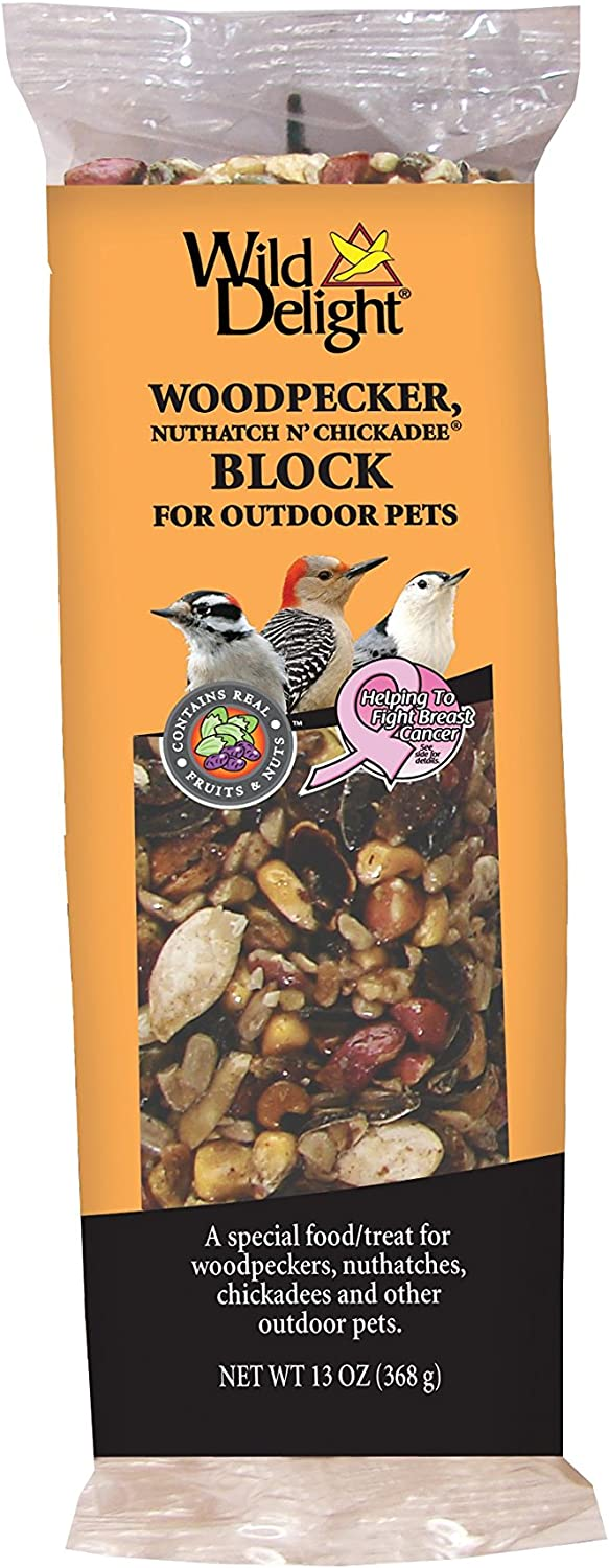 Wild Delight 388490 13 Oz Woodpecker & Wild Bird Nut Block